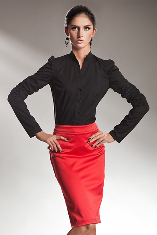 Черная Блузка И Красная Юбка В Самаре
