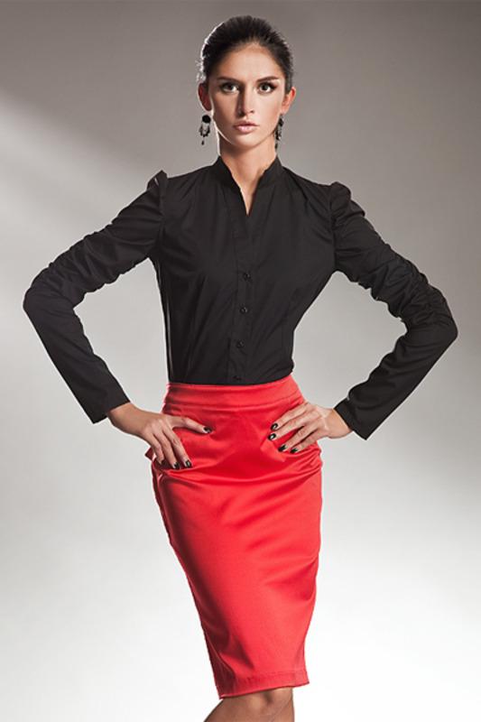 Красная Юбка Черная Блузка